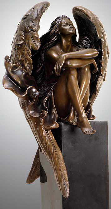 Gaylord Ho - Reflection Bronze Sculpture
