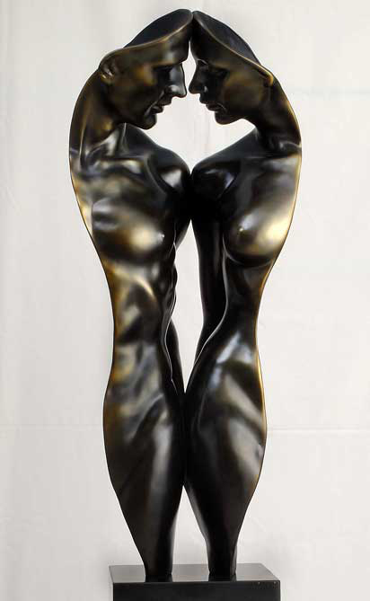 Gaylord Ho - We Two Bronze Sculpture