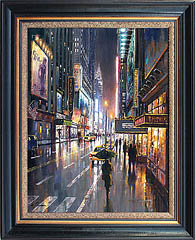 Bob Pejman 42nd Street East Original Oil