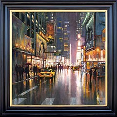Bob Pejman Bright Lights Big City Original Oil