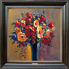Bob Pejman Poppies Bouquet 30x30 original