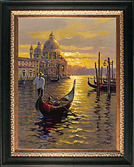 Bob Pejman - Venetian Sunset Original Oil