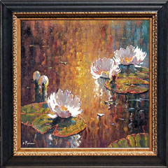 Pejman White Lilies at Sunset
