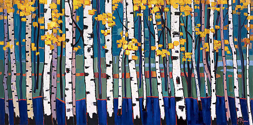Bob pejman _ Aspens in Blue