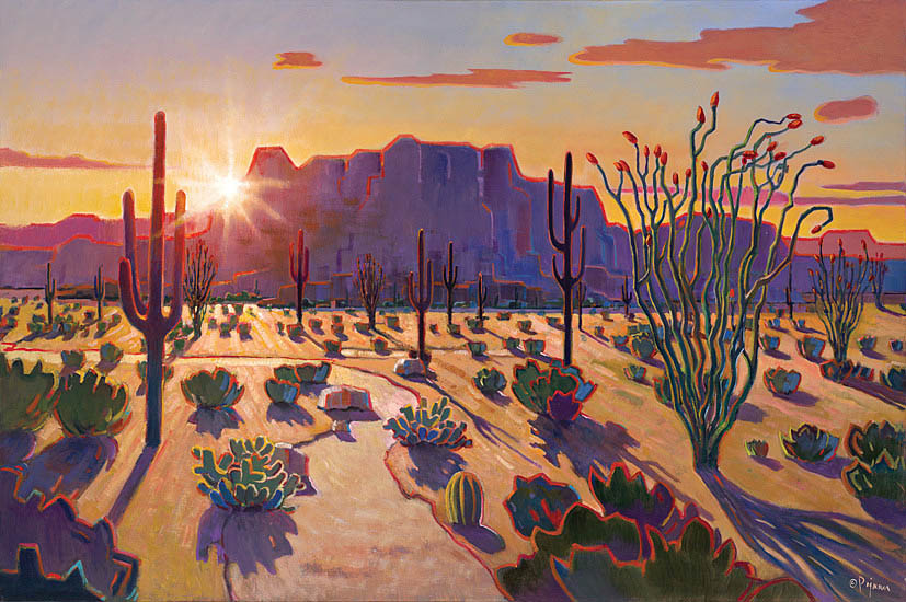 Pejman Superstition Mountain Sunrise 40x60