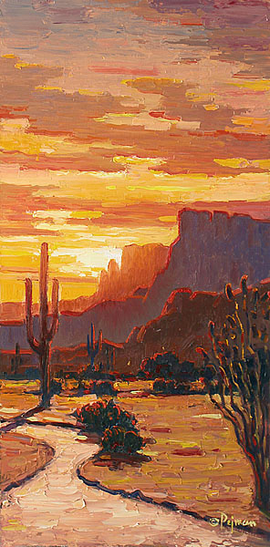 pejman Superstition Sunset 20x10